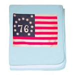 Flag of Bennington III.psd baby blanket
