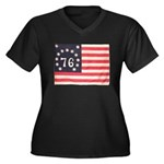 Flag of Bennington III.psd Women's Plus Size V-Nec