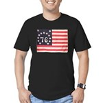 Flag of Bennington III.psd Men's Fitted T-Shirt (d