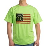 Flag of Bennington III.psd Green T-Shirt