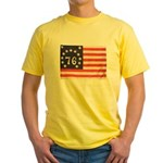 Flag of Bennington III.psd Yellow T-Shirt