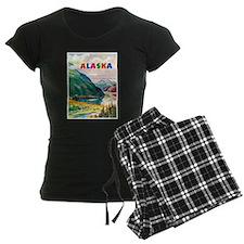 Alaska Travel Poster 2 Pajamas