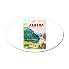 Alaska Travel Poster 2 20x12 Oval Wall Decal