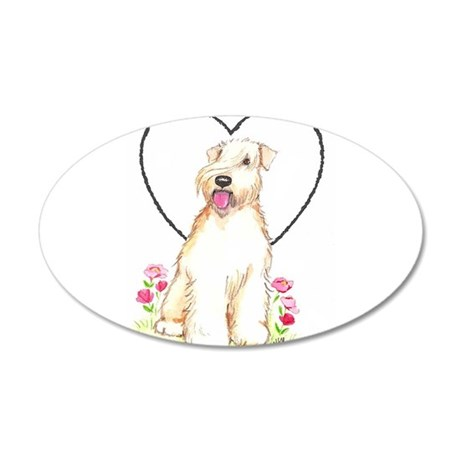 Soft Coated Wheaten Terrier 20x12 Oval Wall Decal