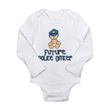Cute Police officers jobs Long Sleeve Infant Bodysuit