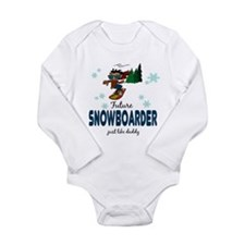 Cute Snowboarding baby Long Sleeve Infant Bodysuit