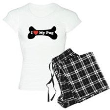 I Love My Pug - Dog Bone Pajamas