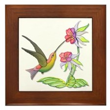 Hummingbird Flight Framed Tile
