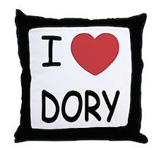 I heart DORY Throw Pillow