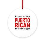 Proud Puerto Rican Heritage Ornament (Round)