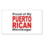 Proud Puerto Rican Heritage Rectangle Sticker