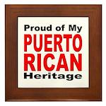 Proud Puerto Rican Heritage Framed Tile