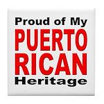 Proud Puerto Rican Heritage Tile Coaster