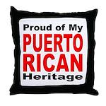 Proud Puerto Rican Heritage Throw Pillow