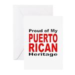 Proud Puerto Rican Heritage Greeting Cards (Packag
