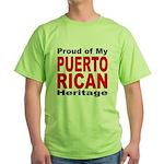 Proud Puerto Rican Heritage Green T-Shirt
