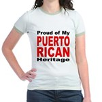 Proud Puerto Rican Heritage Jr. Ringer T-Shirt