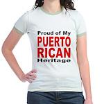 Proud Puerto Rican Heritage (Front) Jr. Ringer T-S