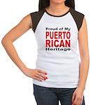 Proud Puerto Rican Heritage (Front) Women's Cap Sl