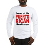 Proud Puerto Rican Heritage Long Sleeve T-Shirt