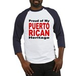 Proud Puerto Rican Heritage (Front) Baseball Jerse