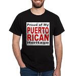 Proud Puerto Rican Heritage (Front) Black T-Shirt