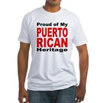 Proud Puerto Rican Heritage (Front) Fitted T-Shirt