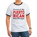 Proud Puerto Rican Heritage (Front) Ringer T