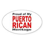 Proud Puerto Rican Heritage Oval Sticker