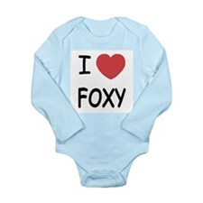 I heart FOXY Long Sleeve Infant Bodysuit