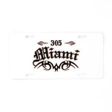 Miami 305 Aluminum License Plate