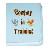 Cowboy in training baby blanket