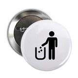 "Litter waste garbage 2.25"" Button (100 pack)"