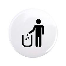 "Litter waste garbage 3.5"" Button (100 pack)"