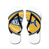 Blue Fin Tina Side Retro Flip Flops