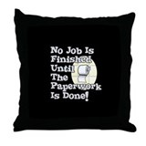 Paperwork Throw Pillow
