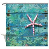 Starfish and Turquoise Shower Curtain
