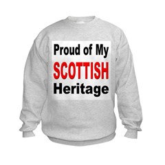 Proud Scottish Heritage Kids Sweatshirt