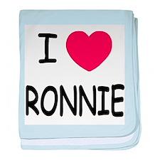 I heart RONNIE baby blanket