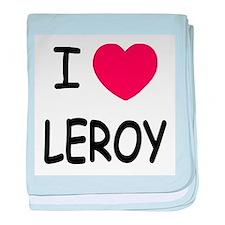 I heart LEROY baby blanket