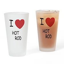 I heart HOT ROD Drinking Glass