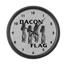 Bacon Flag Large Wall Clock
