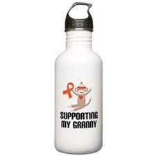 Support Granny Orange Ribbon Sports Water Bottle