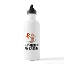 Support Granny Orange Ribbon Water Bottle