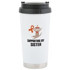 Support Sister Orange Ribbon Ceramic Travel Mug