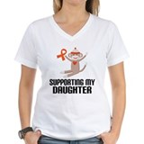 Support Daughter Orange Ribbon Shirt