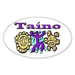 Oval Sticker-Taino