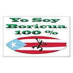 Rectangle Sticker-100% Boricua