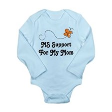 Support Mom MS Butterfly Long Sleeve Infant Bodysu