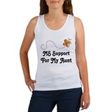 Support Aunt MS Butterfly Women's Tank Top